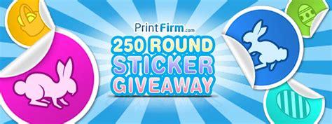 Free Sticker Giveaway - round sticker giveaway free contest printfirm com printfirm s blog