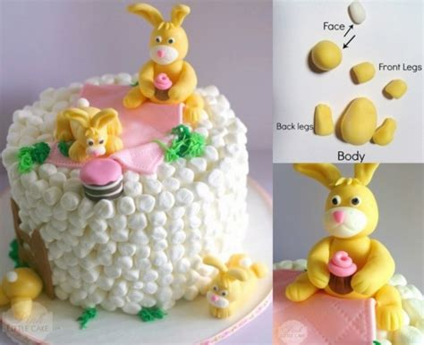 how to make a bunny cake wonderful diy easter marshmallow bunny cake