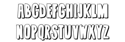 typography outline summerjams outline font