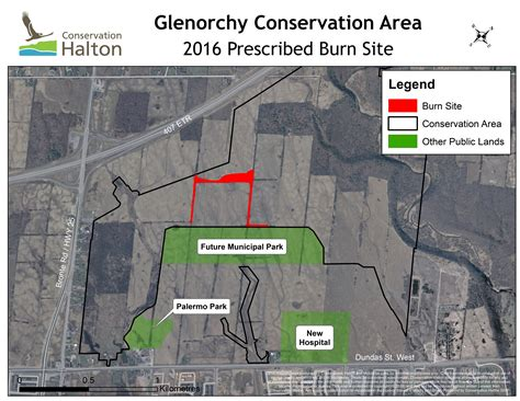conservation halton planning a prescribed burn at the