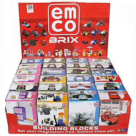 Mainan Anak Lego Sembo Block Model 3d Toko Retail Grosir Bbq jual lego branded emco emco brix building blocks mainan