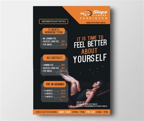 flyer design rates elegant playful flyer design for stepz fitness parkinson