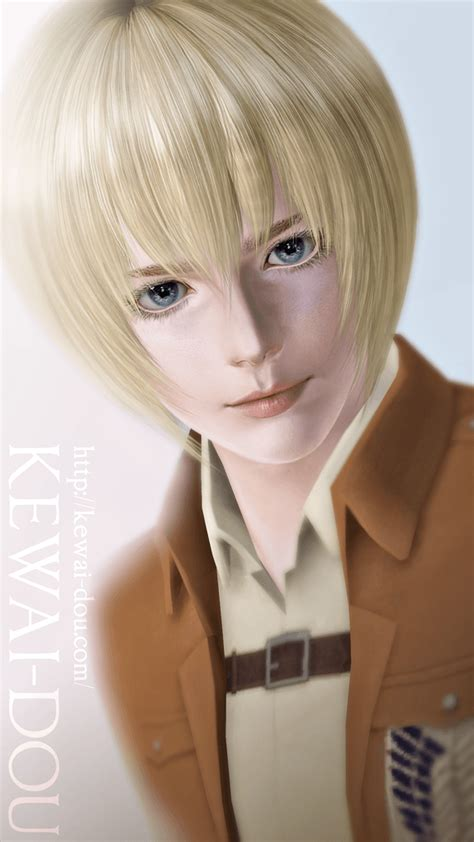 attack on titan sims 3 hair armin arlert kewai dou