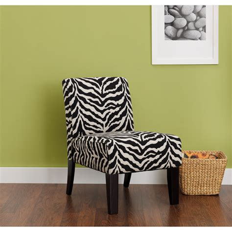 Zebra Print Accent Chair Hometrends Accent Chair Zebra Print Walmart