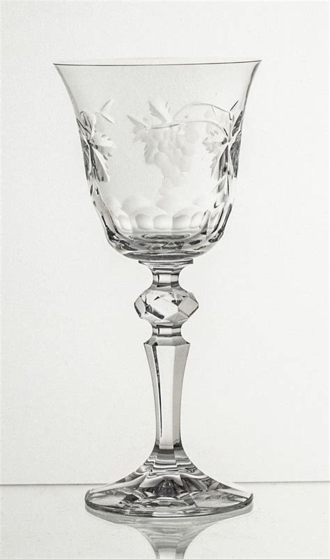 Crystal Goblet Grape Cut set of six   Spring, Raw material