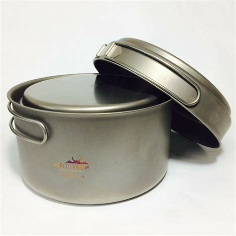 amg titanium lightweight uncoated outdoor cing backpacking cookware set ebay