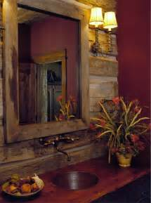 our pinterest bathroom of the week the rustic bathroom