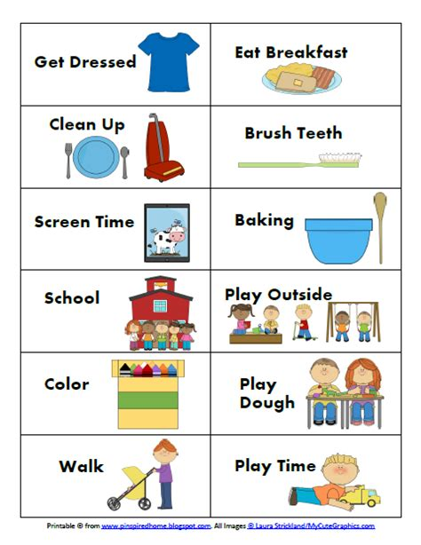 printable daily schedule for autistic child pinspired home creating a routine that works for my