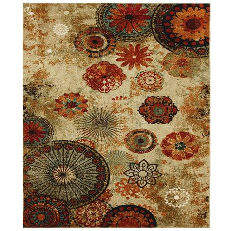 mohawk home caravan medallion rug mohawk home caravan medallion multi 10 ft x 10 ft square area rug 512910 the home depot