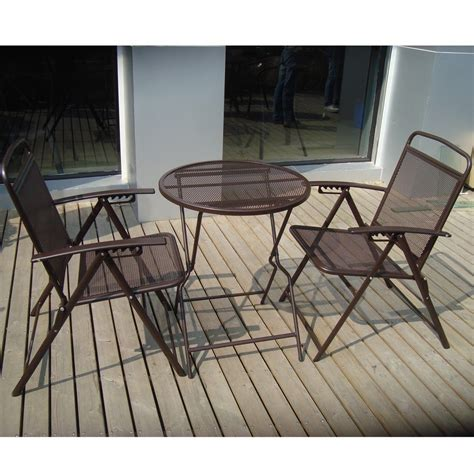 Patio Furniture Metal Sets Metal Patio Table And Chairs Set Marceladick