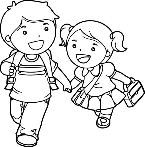 boys coloring pages boy and lets go school coloring page wecoloringpage
