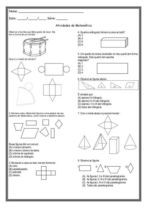 figuras geometricas quarto ano atividade avaliativa geometria r 233 rida maria formas