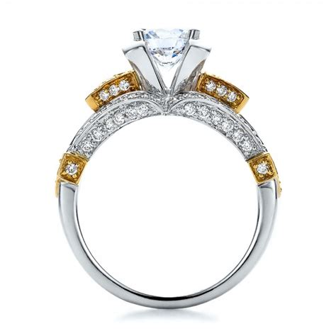 Two Tone Gold Engagement Rings - two tone gold and engagement ring vanna k