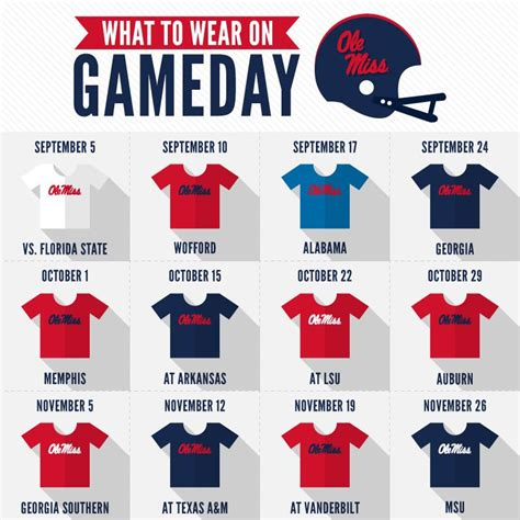 ole miss colors ole miss football quot what to wear on gameday quot ole miss