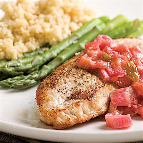recipes using turkey breast cutlets turkey cutlets with rhubarb chutney recipe eatingwell