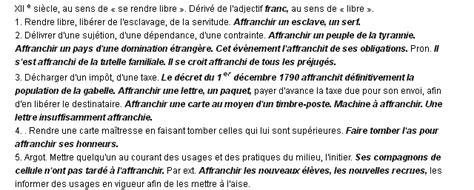 Definition Affranchir Une Lettre affranchir la d 233 finition du terme quot affranchir quot