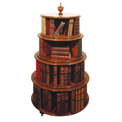 mahogany revolving circular bookcase titchmarsh goodwin