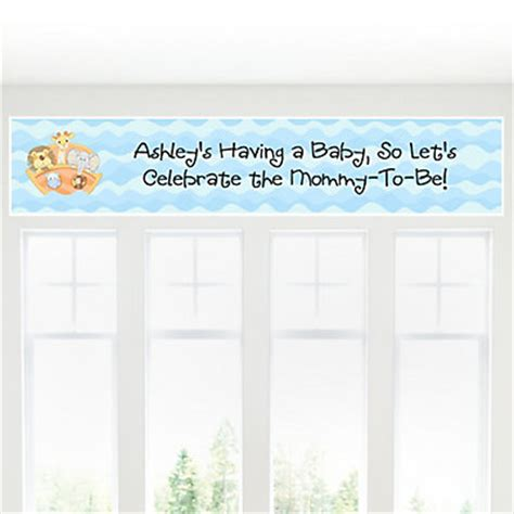 Personalized Baby Shower Banner by Noah S Ark Personalized Baby Shower Banners