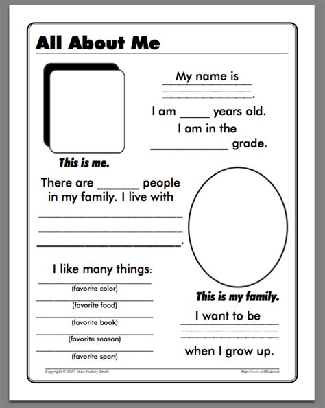 printable worksheets all about me 6 best images of all about me worksheet free printables