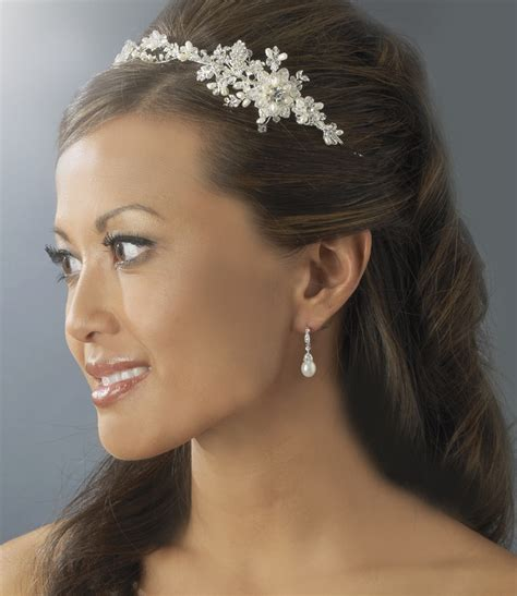 hairstyles with pearl headband fiona floral vine pearl side headband olivier laudus