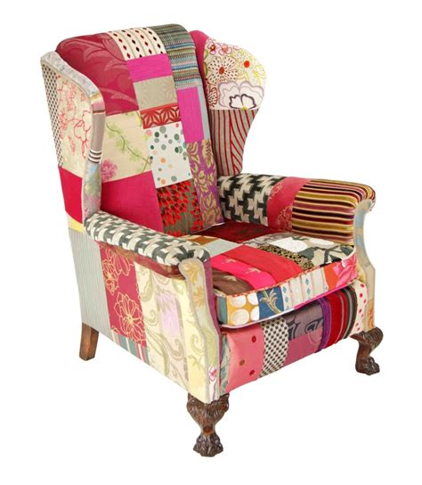 Patchwork Wing Chair - clarissa patchwork wing chair bespoke chairs
