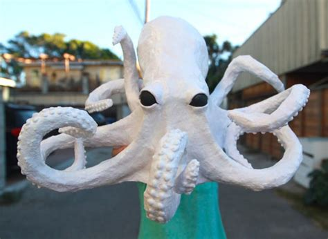 How To Make Paper Mache Crafts - creepy paper mache octopus craft tutorial