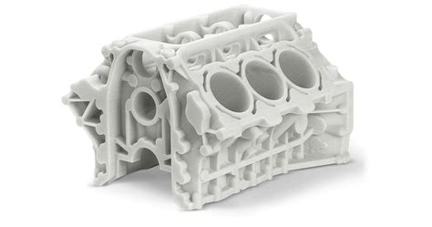 3d Printed L by Automotive Parts 6cylblock 3dsystems Tn 3d Printing