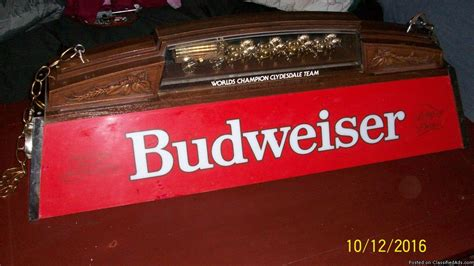 budweiser light for sale vintage budweiser clydesdale for sale classifieds
