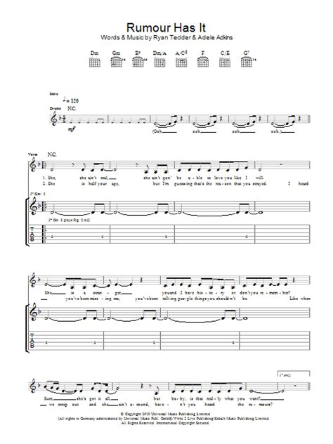 adele rumour has it download rumour has it by adele guitar tab guitar instructor