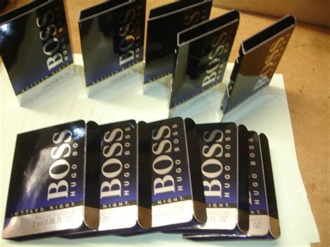 10 MENS AFTERSHAVE SAMPLES HUGO BOSS BOTTLED NIGHT VIALS