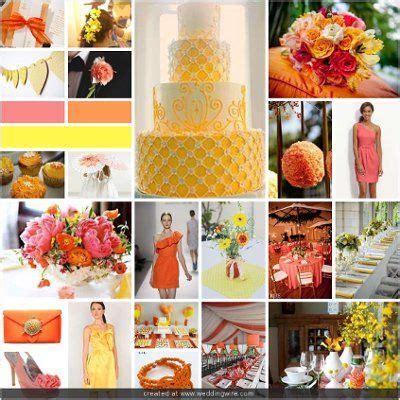 coral and orange wedding coral orange and yellow wedding fairytale endings