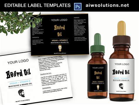 Beard Oil Label Template Id26 Stationery Templates Creative Market Skin Care Label Templates