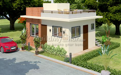 build my home chalet 1 bhk house design plan