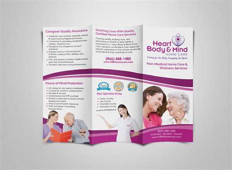 home care brochure template orlando graphic design home care brochure
