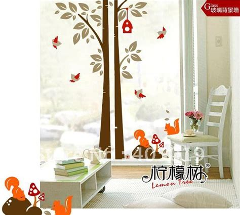 jm7123 animal squirrel removable wall sticker 1x1 3m