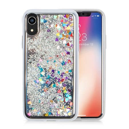 zizo zv glitter design iphone xr silver