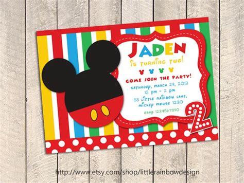 Mickey Mouse Birthday Invitation Card Mickey Mouse Birthday Invitation Mickey Mouse Invitation