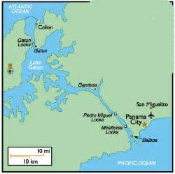 Panama Canal On World Map by Clinic