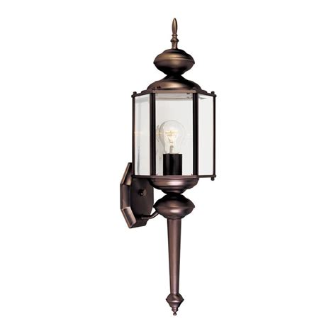 Designer Outdoor Wall Lights Shop Designer S 24 In H Distressed Bronze Outdoor Wall Light At Lowes