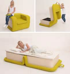 This armchair is designed to fold out into a bed contemporist