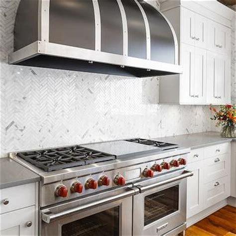 wolf stainless steel backsplash plank herringbone ceiling design decor photos