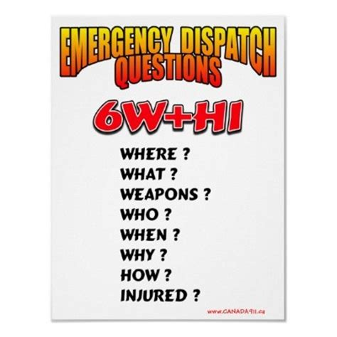 poster emergency dispatch questions 1 by canada911ca