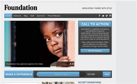 theme foundation 25 charity wordpress templates best premium charity