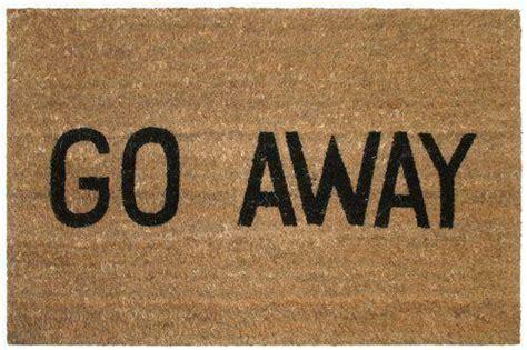 Go Away Doormat - go away door mat ebay