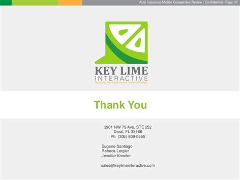 key lime interactives auto insurance competitive review