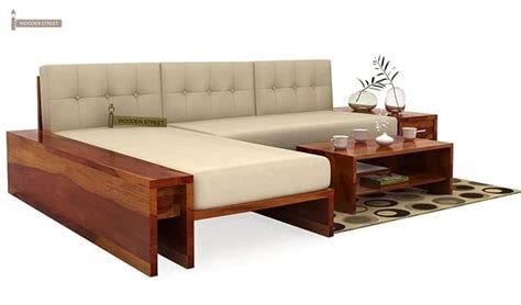 l shaped wooden sofa cortez l shaped wooden sofa honey finish
