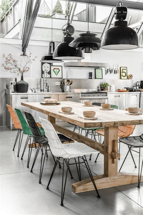 industrial kitchen table chairs top ten rustic dining tables flat 15 design lifestyle