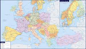 Large Map Of Europe by Maps Of Europe Map Of Europe In English Political