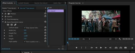 adobe premiere pro resize image how to upscale video with super resolution plugin in adobe