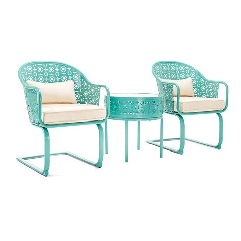 Set Boy Blue parsons patio bistro set blue la z boy outdoor
